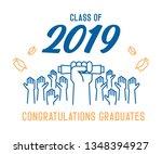 graduation day. class of 2019... | Shutterstock .eps vector #1348394927
