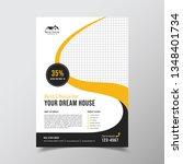 geometric real estate brochure...   Shutterstock .eps vector #1348401734