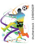 soccer speed | Shutterstock . vector #134840609