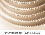 filmstrip sepia macro full...   Shutterstock . vector #134842139