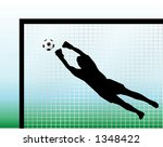 Goal keeper silhouettes - vector illustration! - stock vector