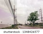 Row Of Electricity Pole On...