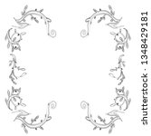 hand drawn wedding invitation... | Shutterstock .eps vector #1348429181