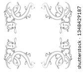 hand drawn wedding invitation... | Shutterstock .eps vector #1348429187