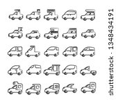 hand drawn car  vehicle icons... | Shutterstock .eps vector #1348434191