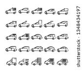 hand drawn car  vehicle icons... | Shutterstock .eps vector #1348434197