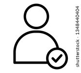 user  people  check mark icon....