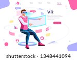 visual images  virtual...   Shutterstock .eps vector #1348441094