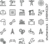 thin line vector icon set  ... | Shutterstock .eps vector #1348442267