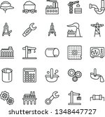 thin line vector icon set  ... | Shutterstock .eps vector #1348447727