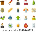 color flat icon set   easter... | Shutterstock .eps vector #1348448921