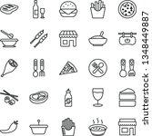 thin line vector icon set  ...   Shutterstock .eps vector #1348449887