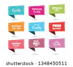 promotional badges and sale... | Shutterstock .eps vector #1348450511
