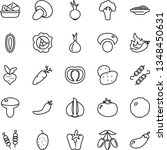 thin line vector icon set  ... | Shutterstock .eps vector #1348450631