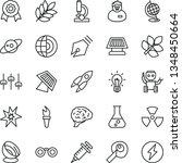 thin line vector icon set  ... | Shutterstock .eps vector #1348450664