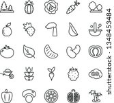 thin line vector icon set  ... | Shutterstock .eps vector #1348453484