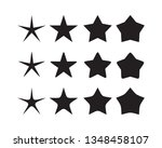 star icon set  isolated on... | Shutterstock .eps vector #1348458107