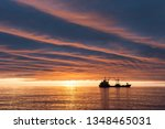 beautiful sunrise over the... | Shutterstock . vector #1348465031