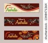 horizontal banner templates in...   Shutterstock .eps vector #1348471364