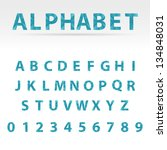 blue vector abstract alphabet... | Shutterstock .eps vector #134848031