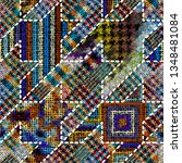 imitation of indian patchwork... | Shutterstock .eps vector #1348481084