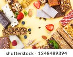 assortment of different granola ... | Shutterstock . vector #1348489394