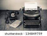 Vintage Typewriter  Telephone ...