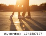 legs of man and woman. loving... | Shutterstock . vector #1348507877