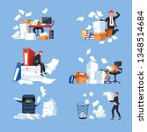 business office paperwork... | Shutterstock .eps vector #1348514684
