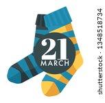 child socks world down syndrome ... | Shutterstock .eps vector #1348518734