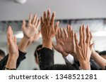 many happy business people... | Shutterstock . vector #1348521281