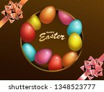 happy easter holiday with... | Shutterstock .eps vector #1348523777