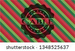 cable christmas colors emblem. | Shutterstock .eps vector #1348525637