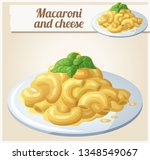 macaroni and cheese. detailed...   Shutterstock . vector #1348549067