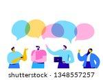 group of people having... | Shutterstock .eps vector #1348557257