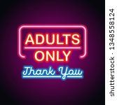 adults only glowing box for... | Shutterstock .eps vector #1348558124