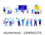 creative team characters flat...   Shutterstock .eps vector #1348562174