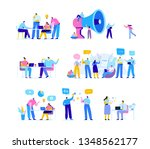 creative team characters flat... | Shutterstock .eps vector #1348562177
