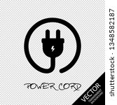 power cord icon   vector...