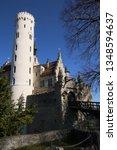 castle lichtenstein swabian jura   Shutterstock . vector #1348594637
