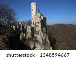 castle lichtenstein swabian jura   Shutterstock . vector #1348594667