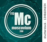 moscovium chemical element.... | Shutterstock .eps vector #1348604654