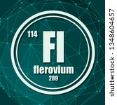 flerovium chemical element.... | Shutterstock .eps vector #1348604657