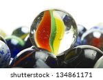 Various Marbles Close Up On Th...