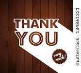thank you card with typography... | Shutterstock .eps vector #134861321