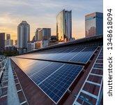 solar panel photovoltaic... | Shutterstock . vector #1348618094