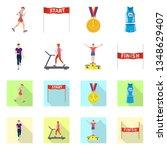 vector design of sport  and...   Shutterstock .eps vector #1348629407