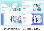 online and travel insurance set ... | Shutterstock .eps vector #1348631357