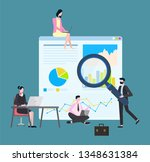 working man and woman vector ... | Shutterstock .eps vector #1348631384