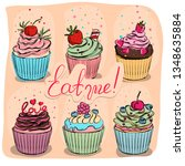 desserts sketch. isolated...   Shutterstock .eps vector #1348635884